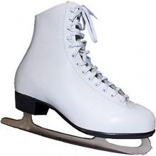 Schlittschuhe Eiskunstlauf Leder Gr. 36 37 38 43 weiß Bild 1
