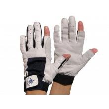 Blueport Segelhandschuhe Leder, 2 Finger frei, Größe:M Bild 1