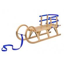 Impag Hörnerschlitten mit Zuggurt und Lehne 115 cm Bild 1