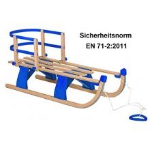 Impag Hörnerschlitten mit Lehne u Zugseil Sport 105cm Bild 1