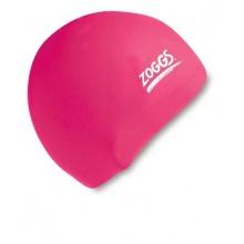 Zoggs Erwachsene Badekappe Swim Cap Silikon, Pink Bild 1