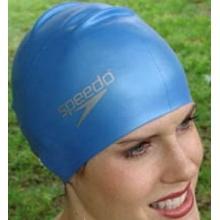 Speedo Silikon-Badekappe für lange Haare, Blau Bild 1