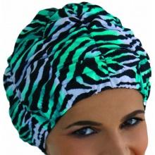 Fashy Damen Badekappe, smaragd-weiß-schwarz, 3634 Bild 1