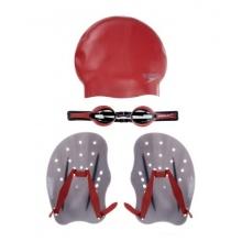 Speedo Trainingspaket Performance Handpaddel, Red, L Bild 1