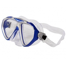 Aquazon Tauchmaske Ray, Blau Transparent, M, AQMARAYBL Bild 1