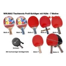 Win.Max Profi Tischtennis Schläger mit Hülle  Bild 1