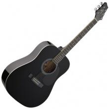 Stagg Westerngitarre Black Hochglanz Bild 1