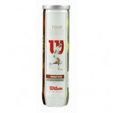 Wilson Tour Practice Tennisbälle gelb 4er Dose Bild 1