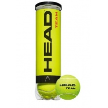 HEAD Tennisball Team 4-er Pack, Gelb, One Size Bild 1