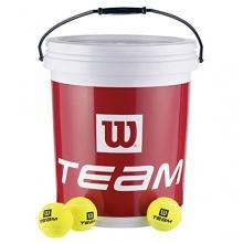 Wilson Team W Trainer 72 Tennisbälle im Eimer, Gelb, 6 Bild 1