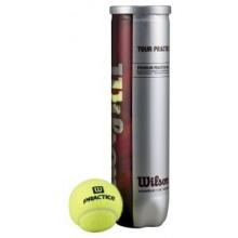 Wilson Tennisball Tour Practice, gelb, 4 Stück Bild 1