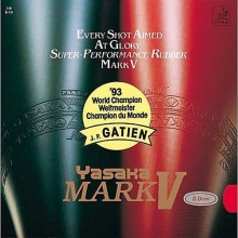 Yasaka Tischtennis Belag Mark V, 2,0 mm, schwarz Bild 1