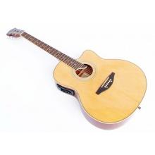 Cherrystone Dreadnought Western Gitarre, natur 4EQ Bild 1