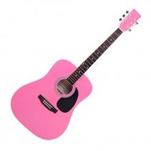 Classic Cantabile WS-10PK Westerngitarre pink Bild 1