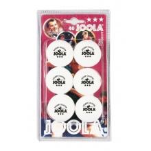 JOOLA Tischtennisbälle Rossi 40 weiss 6er Blister Bild 1