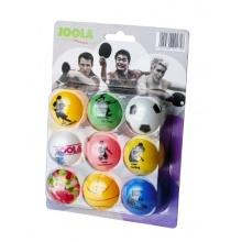 JOOLA Tischtennis-Bälle Fan 9er Blister, bunt Bild 1