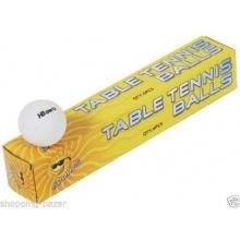 Tischtennisbälle, ohne Logo,Weiß, 6 Stück 40mm Bild 1
