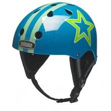 Nutcase Blue Star Glitter L-XL 59-61cm Wassersporthelm Bild 1