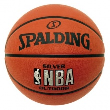 Spalding NBA Silver Outdoor Basketball, Größe:7 Bild 1