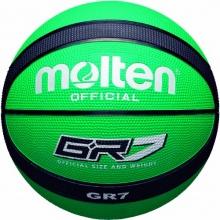 molten Basketball, grün/schwarz, 7, BGR7-GK Bild 1