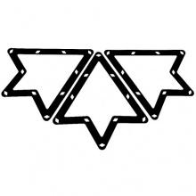 6 Stk. Magische Rack Billard Dreieck Triangel Zubehör Bild 1