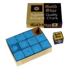 WinSport Billardkreide Gold Star Blau 12 Stück im Pack Bild 1