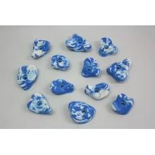 12 große Klettergriffe ideal für Kinder blau weiß Bild 1
