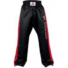 DANRHO Kampfsport Hose Kickboxing, Schwarz/Rot 150 cm Bild 1