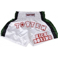TOP TEN Kampfsport Shorts Kickboxing 200 cm weiß Bild 1
