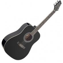 Stagg 25012038 schwarz205BK Spruce Catalpa Akustik Gitarre schwarz Bild 1