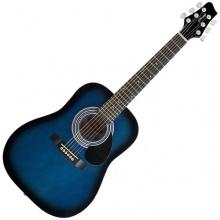 Stagg 25014350 schwarz201 Burs Dreadnought Akustik Gitarre blau Bild 1