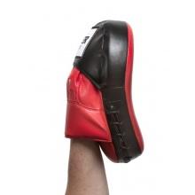 UPPER CUT Trainerpratze Leder (gekrümmt) rot/schwarz Bild 1
