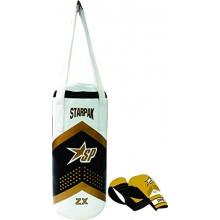 Starpak Punchingsack Boxing, Weiß/Schwarz/Gold,43x19cm Bild 1