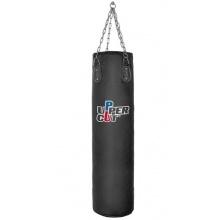 UPPER CUT Punchingsack schwarz 150x35 cm aus Leder Bild 1