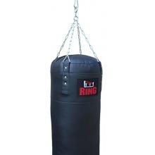 Ring-Sport Punchingsack Leder 120x35cm Schwarz 30kg Bild 1