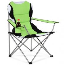 TecTake Anglersessel Campingstuhl grün/schwarz  Bild 1