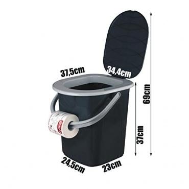 branq 1306 reise wc toilette campingtoilette eimer 22l test. Black Bedroom Furniture Sets. Home Design Ideas