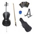 Cecilio CCO Black Cello mit Softtragetasche Kolofonium Bogen und Saiten Bild 1