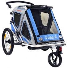 Qeridoo Kinder Fahrradanh�nger Speedkid2 Blau  Bild 1