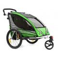 Qeridoo Kinder Fahrradanhänger Sportrex2 Grün Q6000A Bild 1
