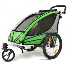 Qeridoo Kinder Fahrradanhänger Sportrex1 Grün  Bild 1
