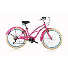 Tretwerk Beachcruiser Leader Lazy Rose Damenrad Bild 1