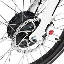 provelo 20Zoll Elektro-Faltrad mit 3-Gang,Weiß/Schwarz Bild 1