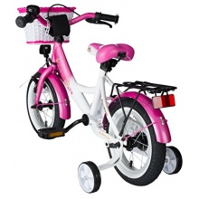 BIKESTAR Premium Kinderfahrrad ab 3 Jahren Pink u Weiß Bild 1