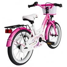BIKESTAR Premium Kinderfahrrad,ab 4 Jahren,Pink u Weiß Bild 1