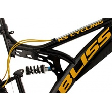 KS Cycling Mountainbike Fully Bliss, Schwarz/Gold, 26Z Bild 1