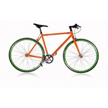 Singlespeed 28er Rennrad von Leader Orange/Grün 59cm Bild 1