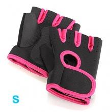 SODIAL Feldhockey Handschuhe schwarz mit rotem Rand S Bild 1