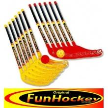 Winsport Fun-Hockey Schläger-Set:12 Schlägern,12 Bälle Bild 1