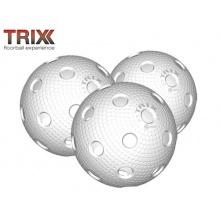 TRIX MEGASAT Rollhockey Floorball 3 Bälle MATCHBALL Bild 1